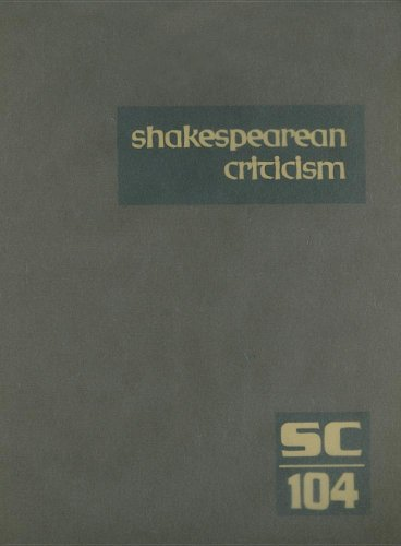 9780787688424: Shakespearean Criticism: Excerpts from the Criticism of William Shakespeare's Plays & Poetry, from the First Published Appraisals to Current Evaluations