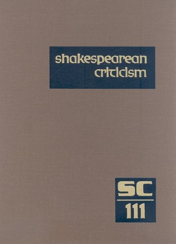 9780787688493: Shakespearean Criticism: Excerpts from the Criticism of William Shakespeare's Plays & Poetry, from the First Published Appraisals to Current Evaluations