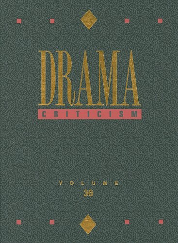 9780787696399: Drama Criticism: Excerpts from Criticism of the Most Significant and Widely Studied Dramatic Works