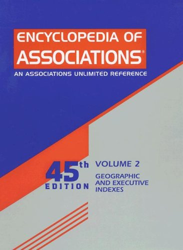9780787696900: Encyclopedia of Associations: Geographic and Executive Indexes