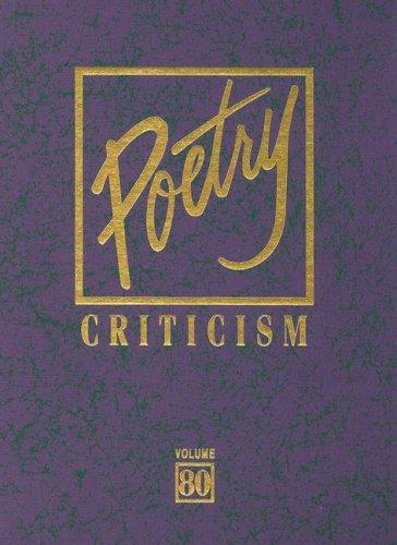 9780787698775: Poetry Criticism