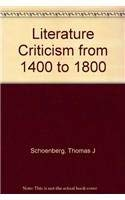 9780787699024: Literature Criticism from 1400 to 1800
