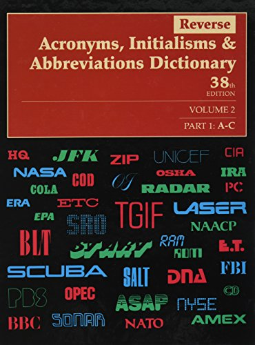9780787699208: Reverse Acronyms, Initialisms & Abbreviations Dictionary