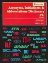 Reverse Acronyms, Initialisms and Abbreviations Dictionary: Cengage Gale