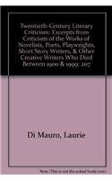 9780787699826: Twentieth-Century Literary Criticism: Excerpts from Criticism of the Works of Novelists, Poets, Playwrights, Short Story Writers, & Other Creative Writers Who Died Between 1900 & 1999