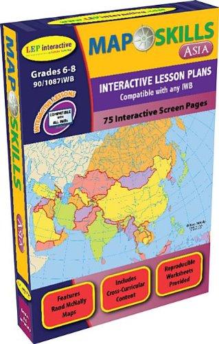 Map Skills: Asia Iwb: Ready-To-Use Digital Lesson Plans: Ashworth, Jessica
