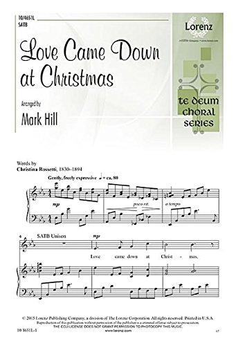9780787714291: Love Came Down at Christmas (Sacred Anthem, SATB, Piano)