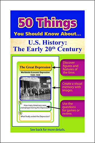 9780787716448: 50 Things You Should Know About U.S. History: The Early 20th Century Flash Cards