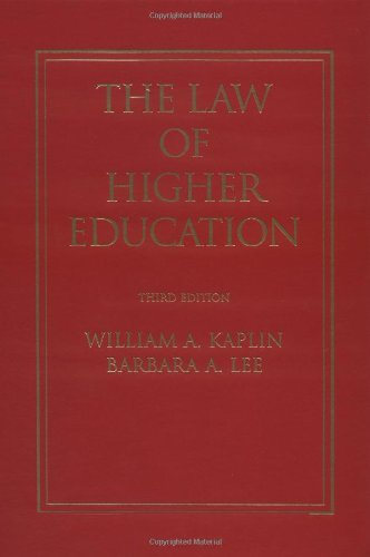 9780787900526: The Law of Higher Education: A Comprehensive Guide to Legal Implications of Administrative Decision Making (Jossey Bass Higher and Adult Education Series)