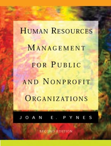 9780787908089: Human Resources Management for Public and Nonprofit Organizations (Jossey Bass Nonprofit and Public Management Series)