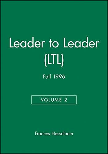 9780787914202: Leader to Leader (LTL), Volume 2, Fall 1996 (J-B Single Issue Leader to Leader)