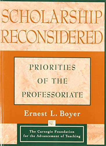 9780787940690: Scholarship Reconsidered: Priorities of the Professoriate (Education)