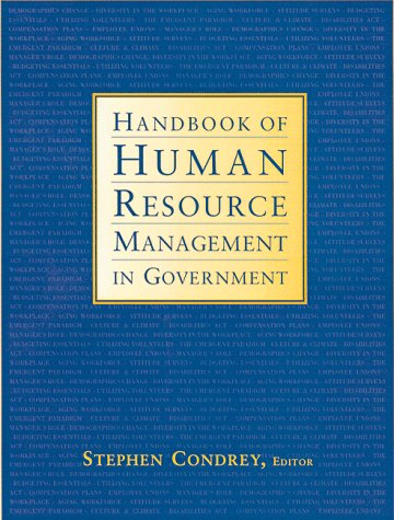 Handbook of Human Resource Management in Government: Condrey, Stephen E.