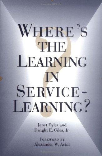 9780787944834: Where's the Learning in Service-Learning?