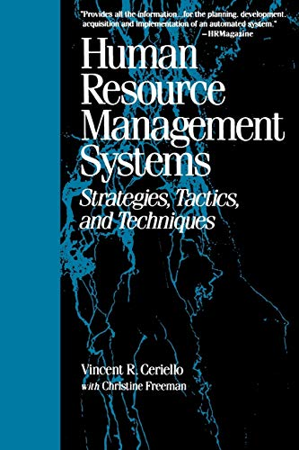 9780787945367: Human Resource Management Systems: Strategies, Tactics, and Techniques