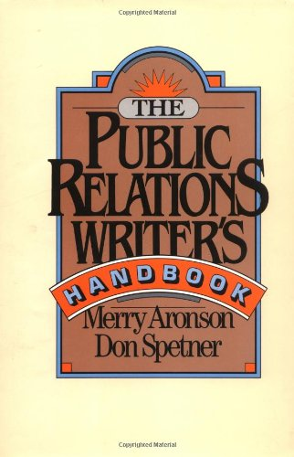 9780787945701: The Public Relations Writer's Handbook
