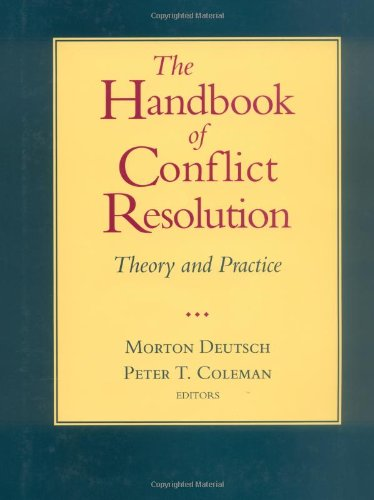 9780787948221: The Handbook of Conflict Resolution: Theory and Practice