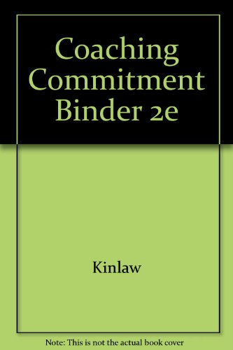 9780787948368: Coaching Commitment Binder 2e