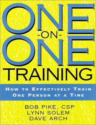9780787951436: One-on-One Training: How to Effectively Train One Person at a Time