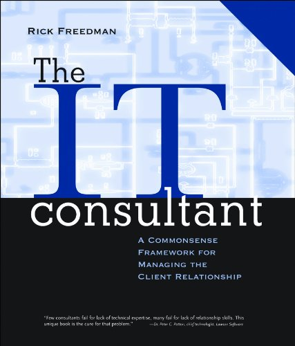 9780787951733: The IT Consultant : A Commonsense Framework for Managing the Client Relationship