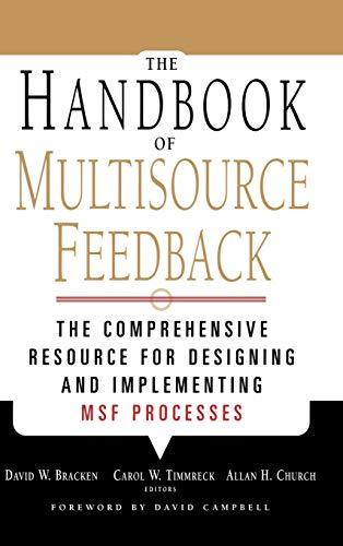 9780787952860: The Handbook of Multisource Feedback