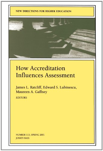 9780787954369: How Accreditation Influences Assessment: New Directions for Higher Education #113, Spring 2001