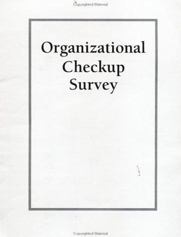 9780787955489: Organizational Checkup Survey