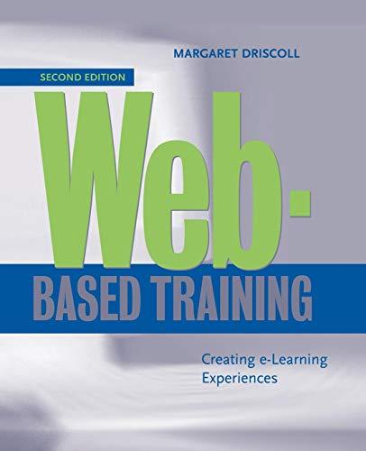 9780787956196: Web-Based Training: Creating e-Learning Experiences