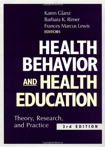 Health Behavior And Health Education 9780787957155 Since it was first published more than a decade ago, Health Behavior and Health Education: Theory, Research, and Practice has become the leading resource in the field of health promotion and education. This thoroughly revised third edition provides a comprehensive and in-depth analysis of health behavior theories relevant to health education and includes the most current information on developments in theory, research, and practice.