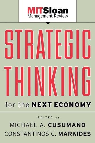 9780787957292: Strategic Thinking for the Next Economy (MIT Slon Management Review)