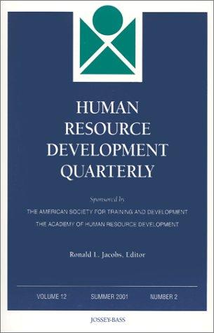 9780787957971: Human Resource Development Quarterly, Number 2, 2001 (J-B HRDQ Single Issue Human Resource Development Qarterly) (Volume 12)