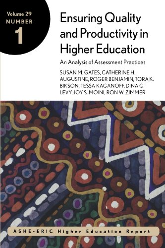 9780787958404: Ensuring Quality and Productivity in Higher Education: An Analysis of Assessment Practices, ASHE-ERIC/Higher Education Report Volume 29, No. 1, 2002