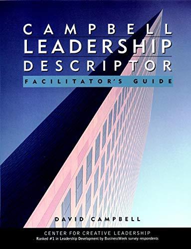 Campbell Leadership Descriptor: Facilitator s Guide Package (Paperback): David P. Campbell