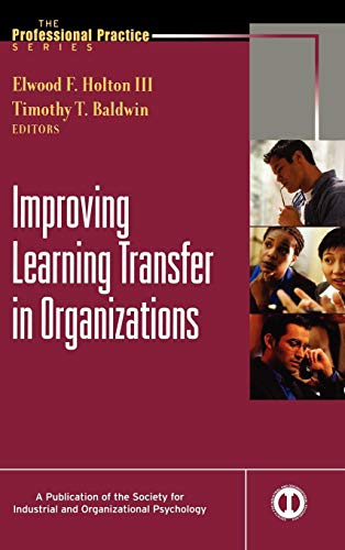 9780787965402: Improving Learning Transfer in Organizations