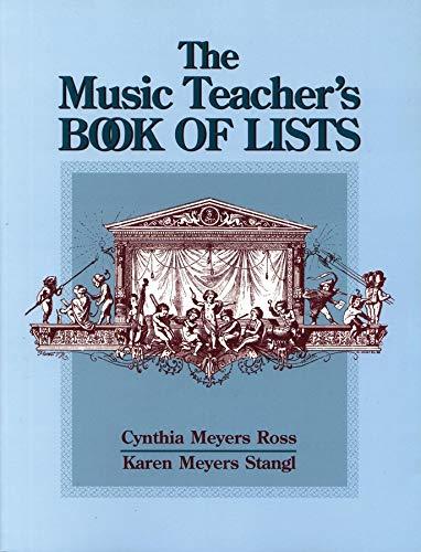 9780787966898: The Music Teacher's Book of Lists