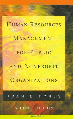 9780787970789: Human Resources Management for Public and Nonprofit Organizations (Jossey Bass Nonprofit and Public Management Series)
