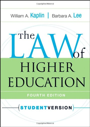 9780787970956: The Law of Higher Education, 4th Edition