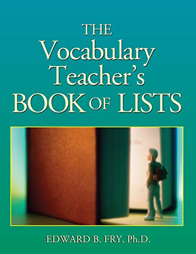 9780787971014: The Vocabulary Teacher's Book of Lists (J-B Ed: Book of Lists)