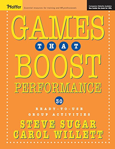 9780787971359: Games That Boost Performance