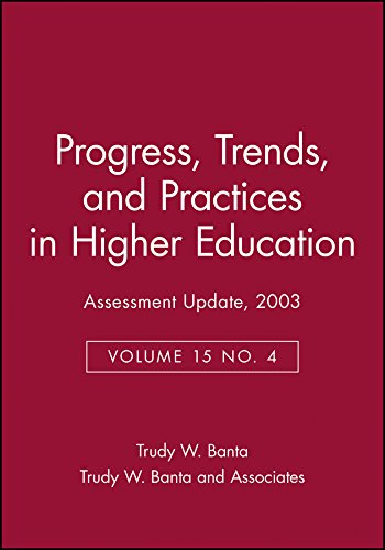 9780787972202: Assessment Update: Progress, Trends, and Practices in Higher Education, Volume 15, Number 4, 2003 (J-B AU Single Issue Assessment Update)