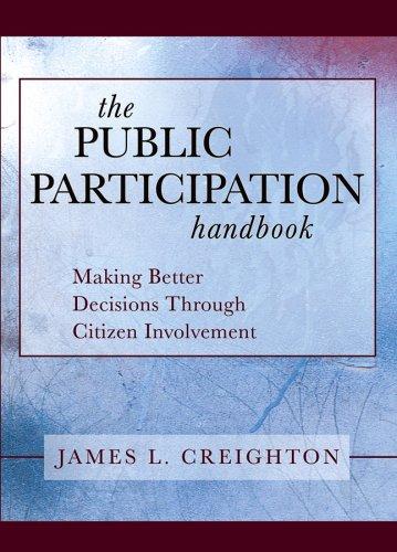9780787973070: The Public Participation Handbook: Making Better Decisions Through Citizen Involvement