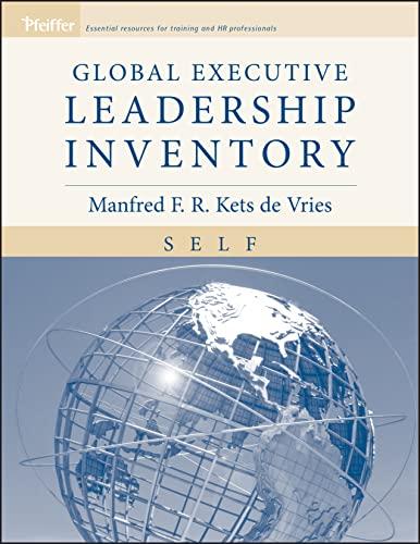 9780787974176: Global Executive Leadership Inventory (GELI), Self Assessment, Self