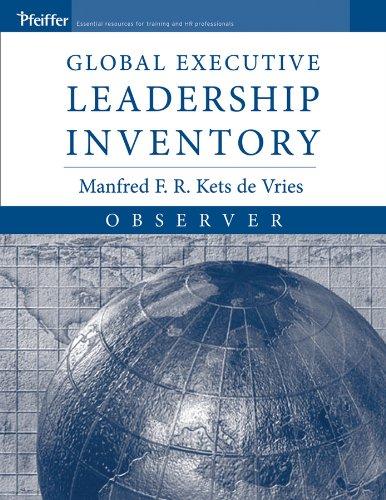 9780787974183: Global Executive Leadership Inventory (GELI), Observer, Observer