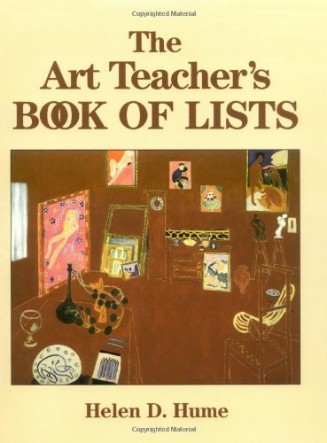 9780787974244: The Art Teacher's Book of Lists (J–B Ed: Book of Lists)