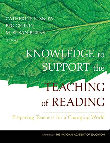 9780787974657: Knowledge to Support the Teaching of Reading: Preparing Teachers for a Changing World