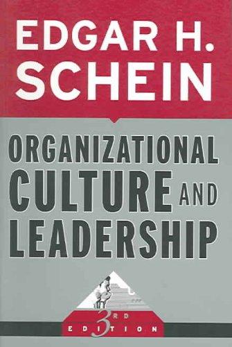 9780787975975: Organizational Culture and Leadership (J-B US non-Franchise Leadership)