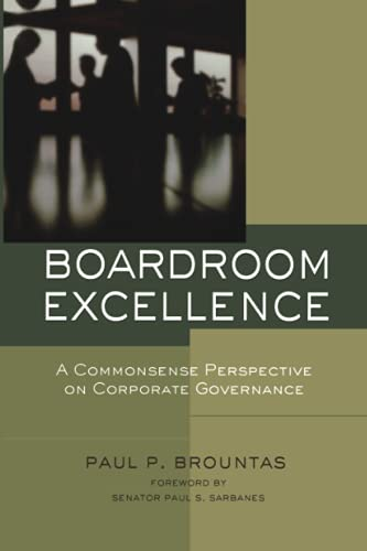 9780787976415: Boardroom Excellence: A Common Sense Perspective on Corporate Governance