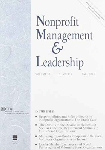 9780787977252: Nonprofit Management & Leadership, No. 1, Fall 2004: 15