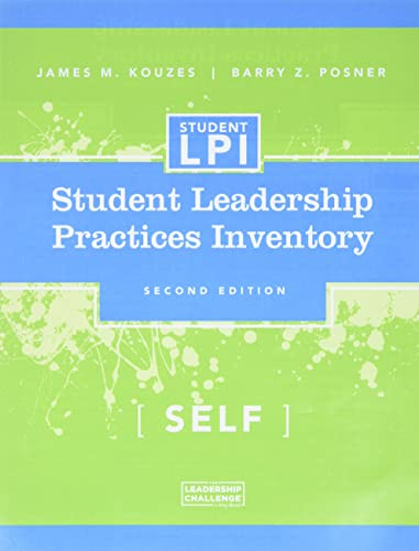 9780787980207: The Student Leadership Practices Inventory (LPI), Self Instrument