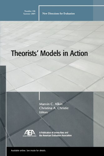 9780787982126: Theorists' Models in Action: New Directions for Evaluation, Number 106
